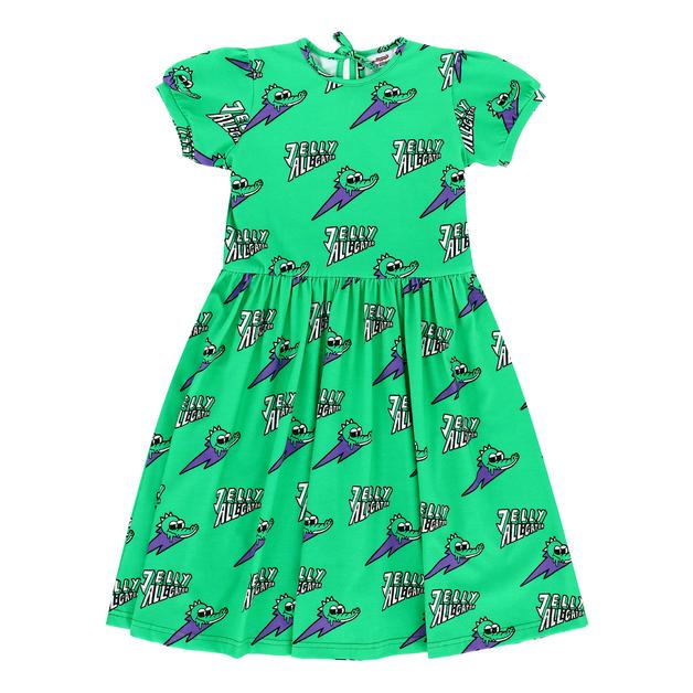 Jelly Alligator: Green Dress - 6-7Y
