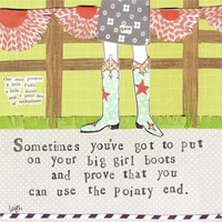 Curly Girl - Big Girl Boots Card