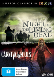 Night Of The Living Dead / Carnival Of Souls (Horror Classics In Colour) (2 Disc Set) on DVD image