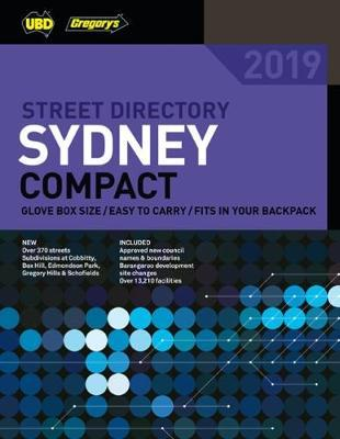 Sydney Compact Street Directory 2019 31st ed by UBD / Gregory's