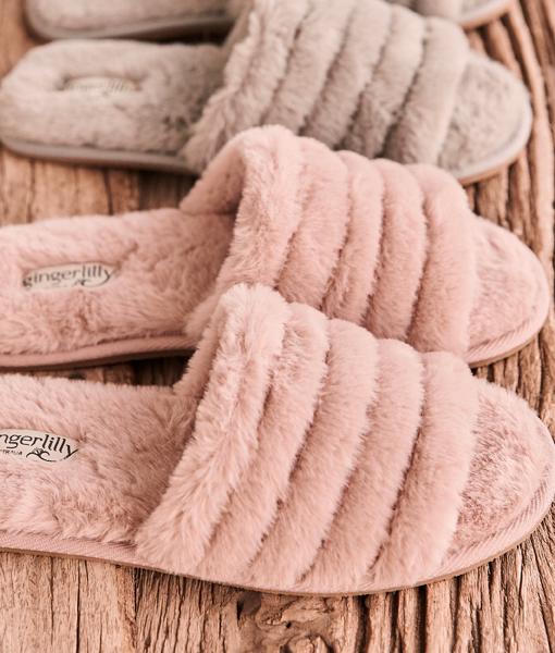 Gingerlilly: Arezzo Slipper Pink - Small image