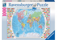 Ravenburger - Political World Map Puzzle (1000pc)