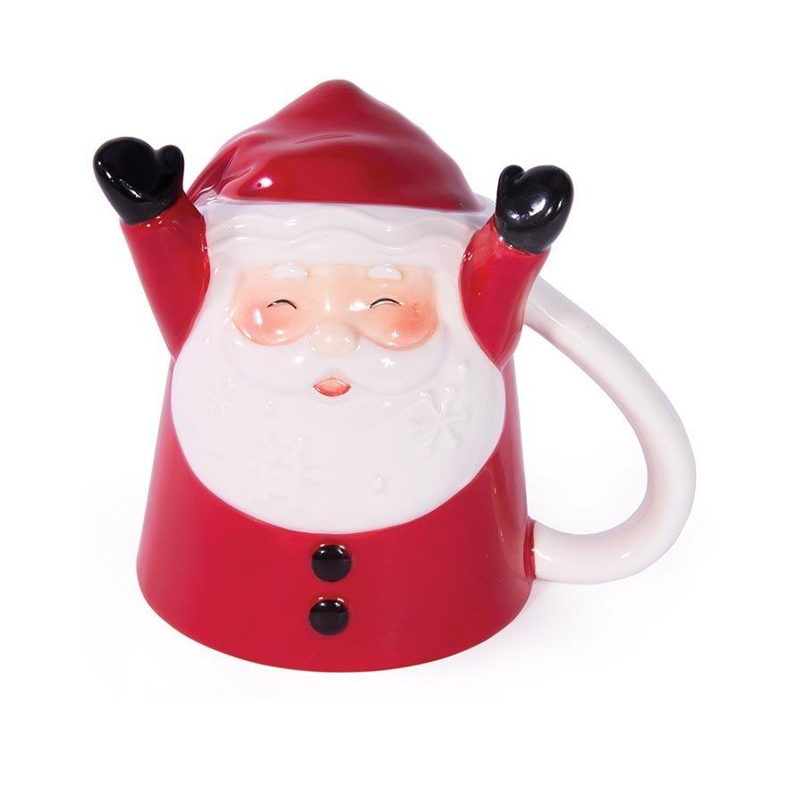 Bottoms Up Santa Mug image