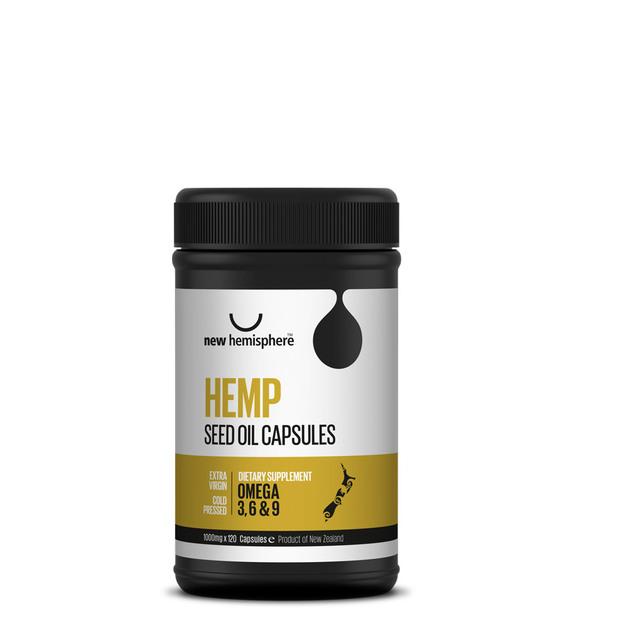 New Hemisphere Hemp Seed Oil Capsules (120x 1000mg)