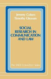 Social Research in Communication and Law by Jeremy Cohen image