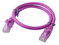 8ware: Cat 6a UTP Ethernet Cable Snagless - 0.5m (Purple)