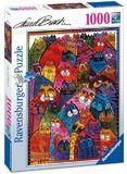 Ravenburger - Laurel Burch: World of Cats Puzzle (1000pc)