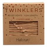 Twinklers: Indoor Warm White LED Lights - Copper String