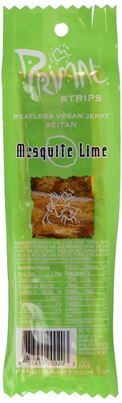 Primal Spirit Foods: Primal Mesquite Lime Vegan Jerky Strip