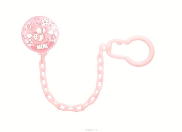 NUK: Soother Chain - Rose