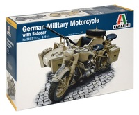 Italeri: 1/9 German Military Motorcycle W/sidecar - Model Kit