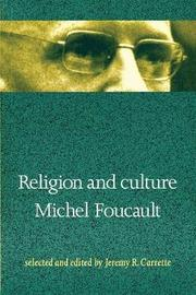 Religion and Culture by Michel Foucault