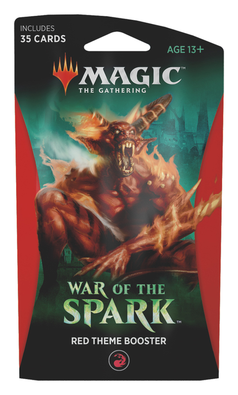 Magic The Gathering: War of the Spark Theme Booster- Red