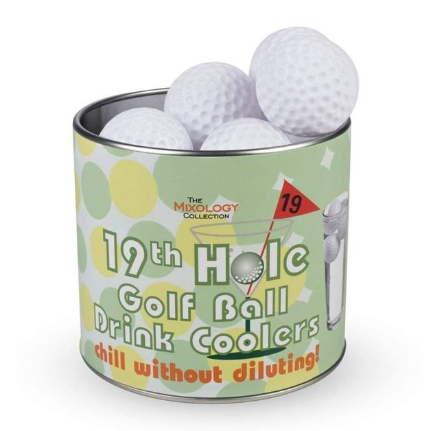 Mixology 19th Hole Golf Ball Drink Coolers (Set of 12)