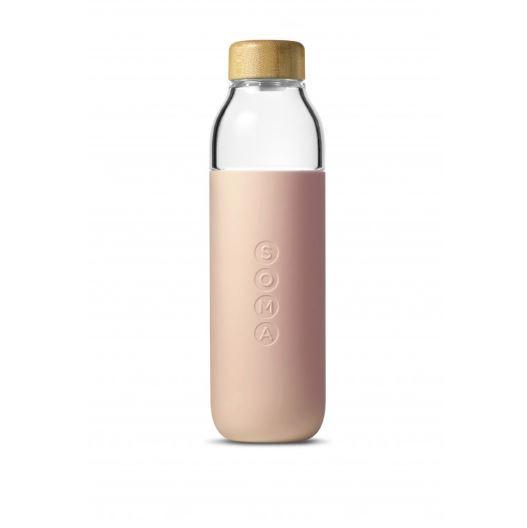 Water Bottle Glass - Blush (470ml)
