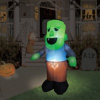 Light-Up Inflatable Zombie - Lawn Decoration