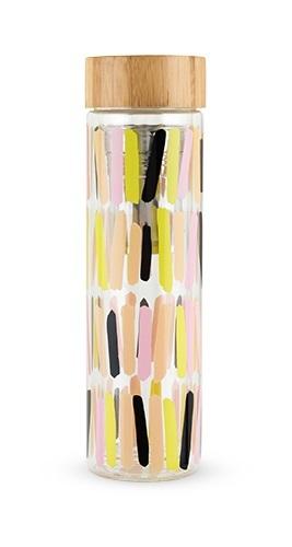 Pinky Up: Blair Glass Travel Infuser Mug - Sprinkles