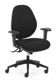 CS Atlas-160 3 Lever with Adjustable Arms Heavy Duty Chair - Black