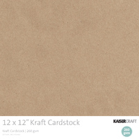 Kraft Cardstock (20 sheets)
