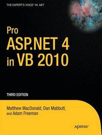 Pro ASP.NET 4 in VB 2010 by Matthew MacDonald image