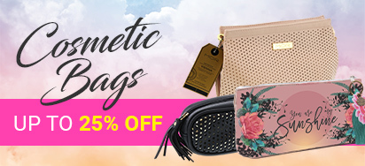 Up to 25% off Cosmetic Bags!