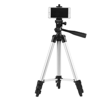 Adjustable Tripod Stand Phone Holder - Silver