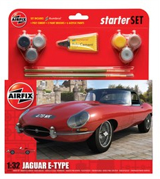 Airfix E Type Jaguar Starter Set 1/32 Model Kit image