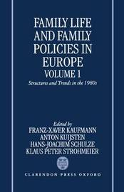 Family Life and Family Policies in Europe: Volume 1