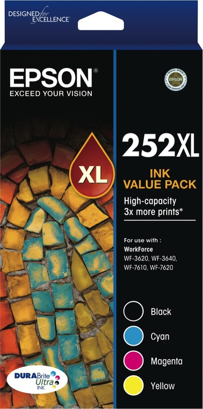 Epson Ink Cartridge - 252XL (Black/Cyan/Magenta/Yellow)