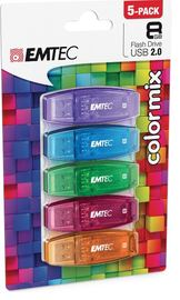8GB Emtec C410 USB Flashdrive (5-pack)