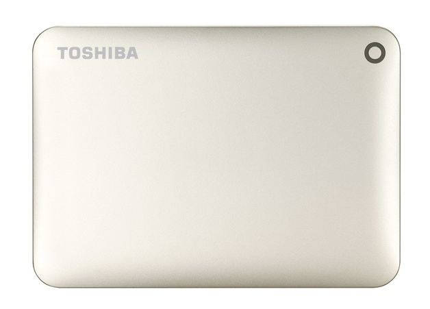 1TB Toshiba: Canvio Connect II - Portable Hard Drive (Gold)