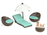 Lori: Doll Rooftop Patio Set