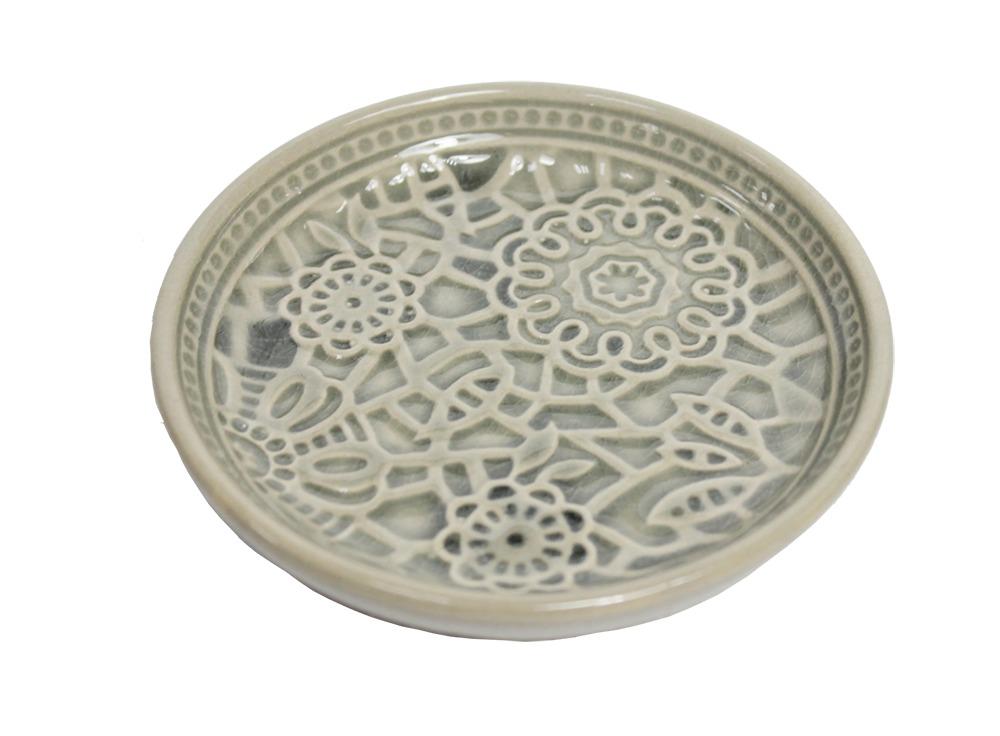 Botanic Dark Grey Dish (12cm) image