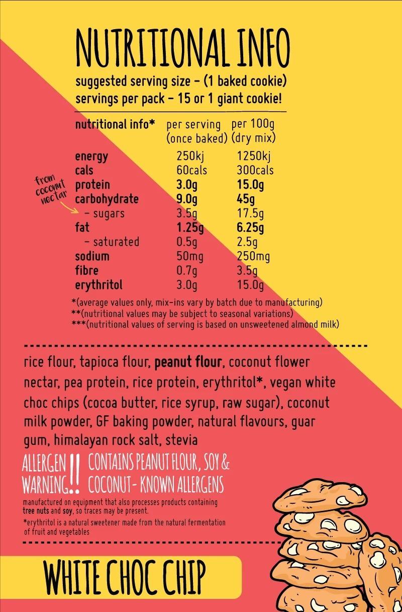 Macro Mike Baking Mix Cookies - White Choc Chip (300g) image