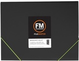 FM Vivid Black A4 Document Wallet (Lime Green)