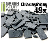 Green Stuff World: Plastic Gravestones Set (48pc)
