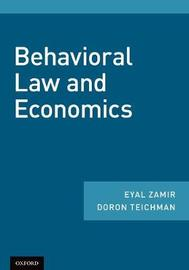 Behavioral Law and Economics by Eyal Zamir