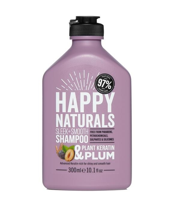 Happy Naturals: Sleek + Smooth Shampoo - Keratin & Plum (300ml)
