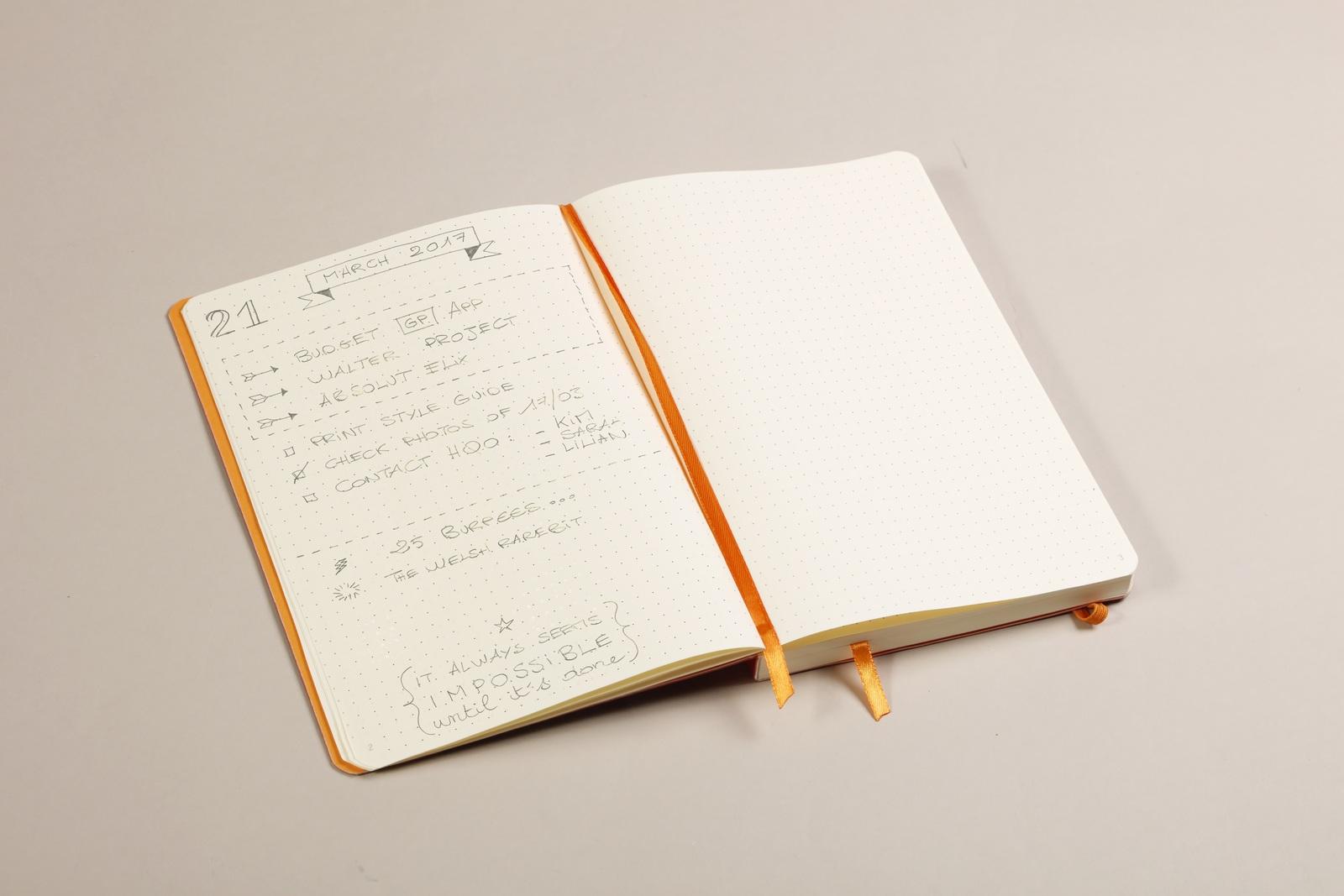 Rhodiarama A5 Goalbook Dot Grid - Beige image