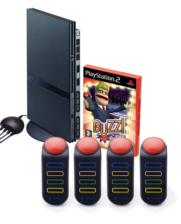 PlayStation 2 Console + Buzz!: The BIG Quiz for PlayStation 2