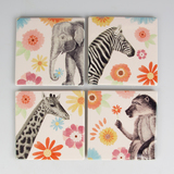 Safari Floral Coaster - Set of 4