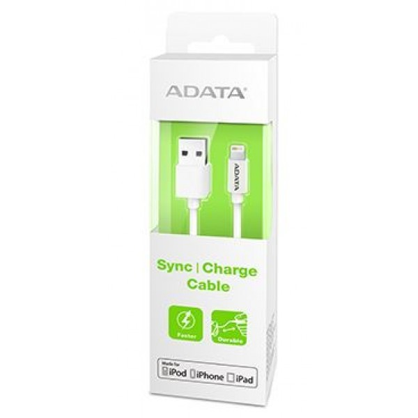 ADATA USB Type A to Lightning Connection Cable - White (1m)