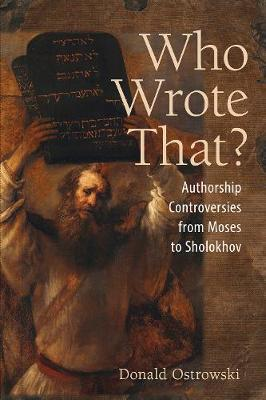 Who Wrote That? by Donald Ostrowski