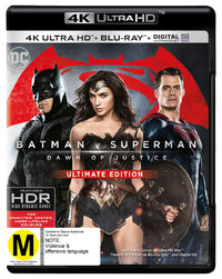 Batman v Superman: Dawn of Justice (4K UHD + Blu-ray) DVD