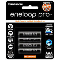 Panasonic Eneloop PRO AAA 950mAh Rechargeable Batteries - 4 Pack