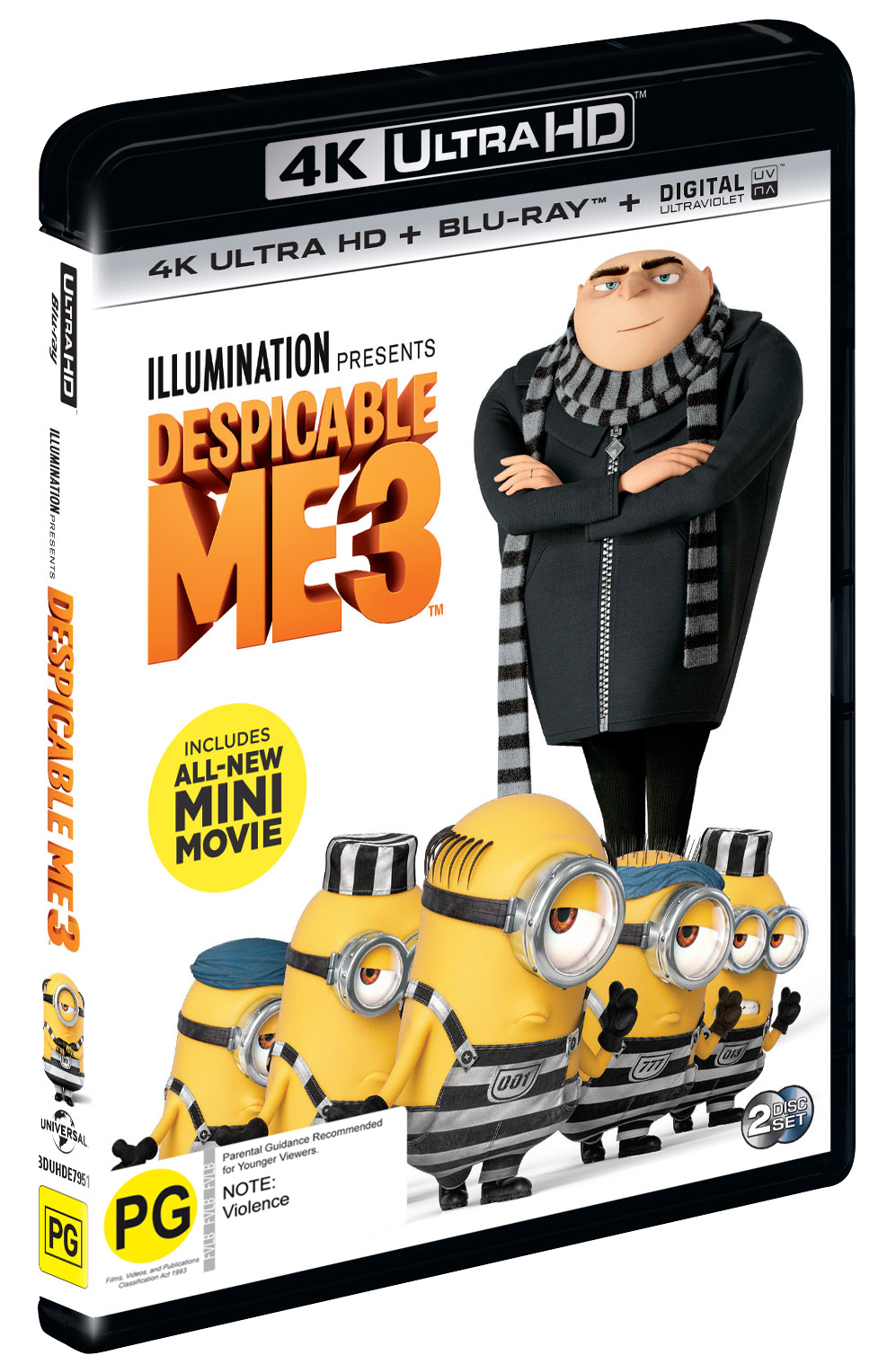 Despicable Me 3 on Blu-ray, UHD Blu-ray image