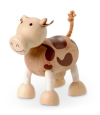 Anamalz: Wooden Figure - Cow