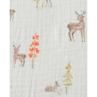 Little Unicorn: Cotton Muslin Swaddle - Oh Deer (Single) image