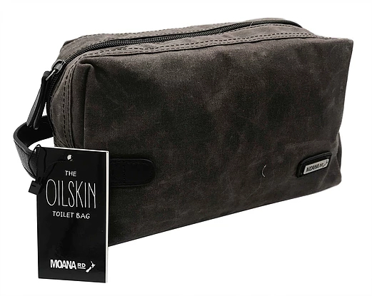Moana Road Oilskin Toiletry Bag (Brown)