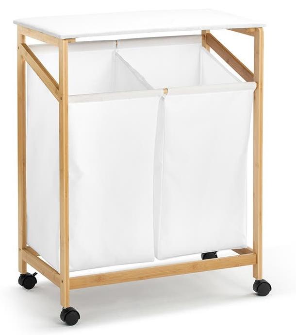 Ovela: Bamboo Laundry Cart